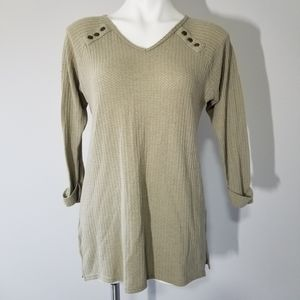 Simply Noelle Waffle Knit Tunic Shirt